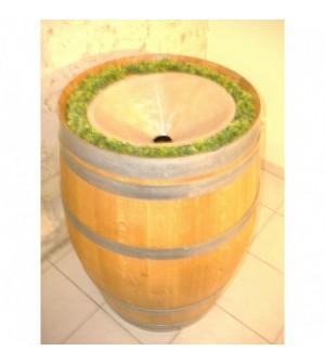 Crachoir 220 litres chêne entonnoir inox