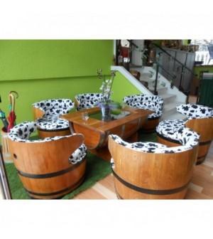 Modéles de barriques servant de meubles (2) - GERARD BUSIN