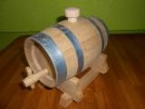 Fût 1 Litre Alcool en chêne nature monté sur chevalet avec robinet