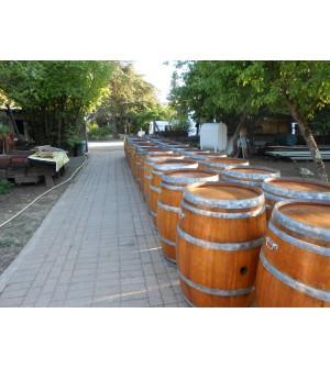 Barriques déco en chêne vernis avec poignées