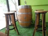 Salon en chêne bar avec 4 tabourets