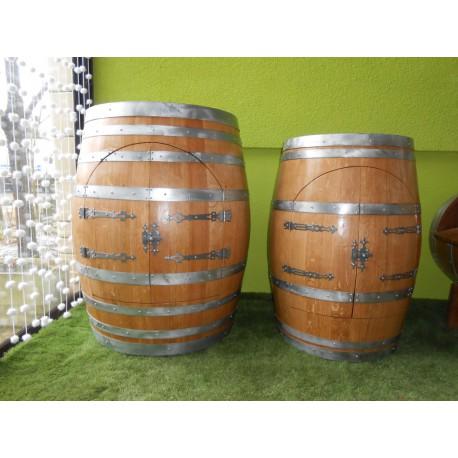 Comparaison bar avec une tonne de 450l et une barrique bordelaise de 225l en chêne