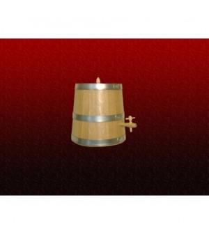Vinaigrier chêne cunique de 10 litres avec robinet