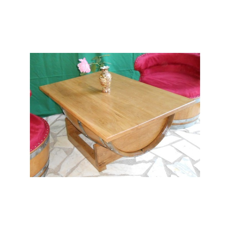 Salon int rieur 2 fauteuils tissus ou similis avec table - Plaque de verre pour table basse ...