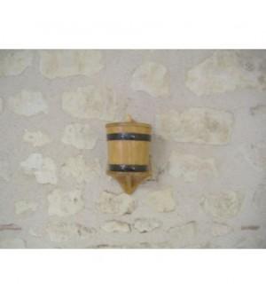 Pot à sel mural en chêne
