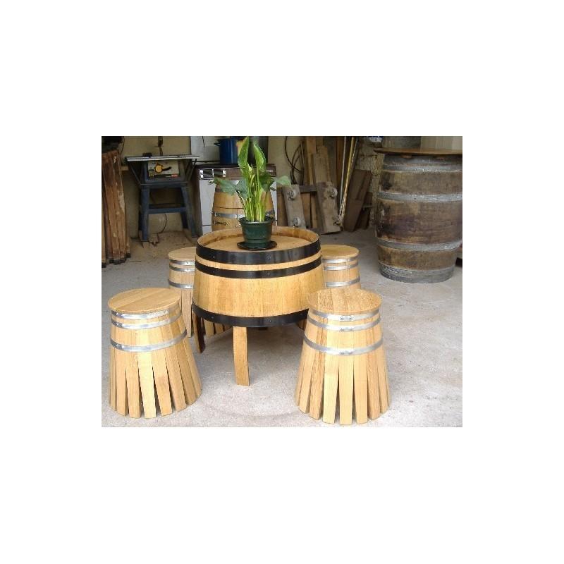 Salon Avec Table Basse Et 4 Tabourets Le Tout En Chene Gerard Busin